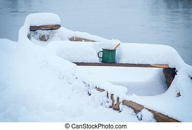 hot tea in cold winter