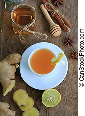 hot tea with ginger