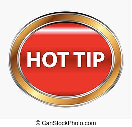 Hot Tip Button icon vector