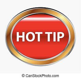 Hot Tip Button icon vector