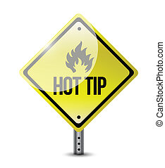 hot tip road sign illustration design