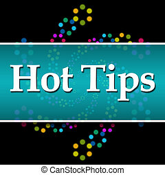 Hot Tips Black Colorful Neon Square