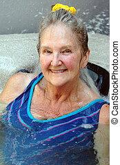 Hot tub beauty.