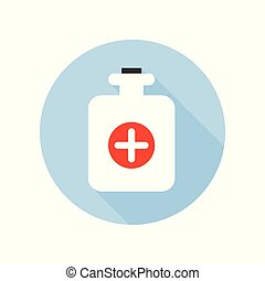 Hot Water Bottle Icon. Healthcare and Medical Theme.