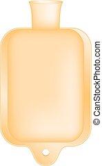 Hot water bottle in orange design