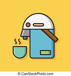 hot water kettle icon
