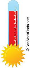 Hot Weather - Thermometer Indicating Hot Weather