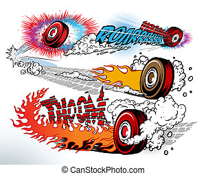 hot wheels cartoon style
