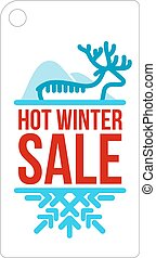 Hot winter sale sticker