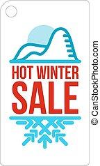 Hot winter sale sticker