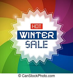 Hot Winter Sale Vector Retro Illustration