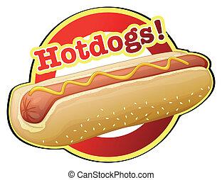 hotdog, ラベル
