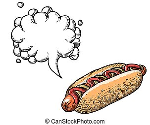 hotdog-100, wizerunek, rysunek