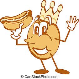 hotdog, arte, cartone animato, clip, mascotte