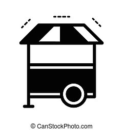 Hotdog Cart icon black color
