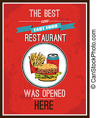 Hotdog poster - Newly opened fast food restaurant hot dog ...