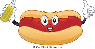 Hotdog Sandwich Mascot - Mascot Illustration of a Hotdog...