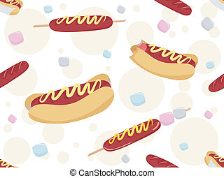 Hotdogs Background