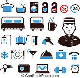 hotel, ícones