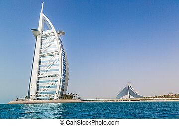 hotel, al, burj, árabe, 5, lujo, estrellas