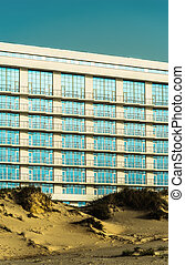 hotel among in sand dunes