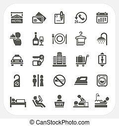 Hotel and Hotel Services icons set, EPS10, Don't use...