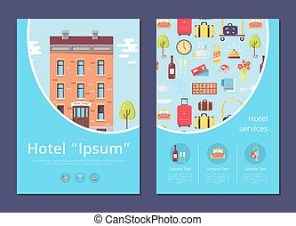 Hotel and Services Info Internet Page Template