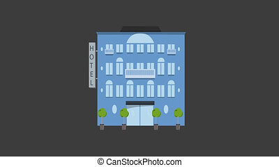 Hotel Animated Building
