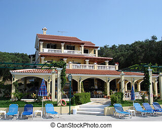 Hotel at a resort - View of a hotel resort