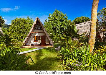 Hotel at tropical beach