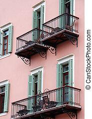 hotel, balkons
