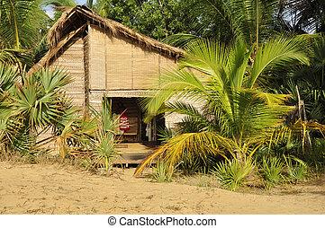 Hotel beach cabana