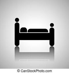 hotel bed design, vector illustration