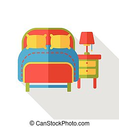 hotel bed flat icon