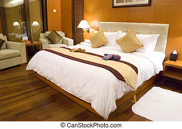 Hotel Bedroom - Image of a comfortable looking hotel...