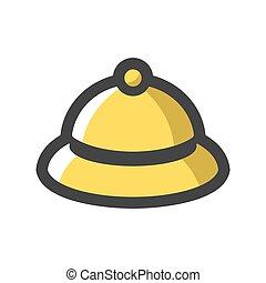 Hotel Bell Vector. Call button. Cartoon illustration
