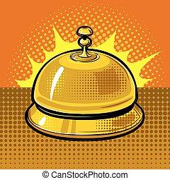 Hotel bell vector illustration