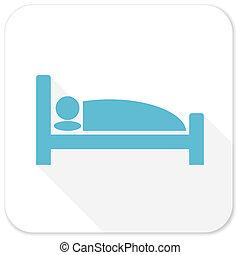 hotel blue flat icon