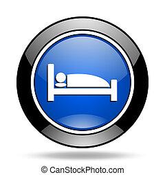 hotel blue glossy icon