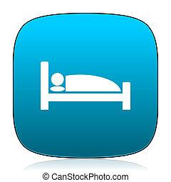 hotel blue icon