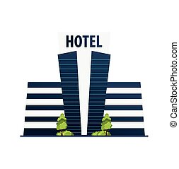 Hotel building. Guest house. Travel and trip. - Hotel ...