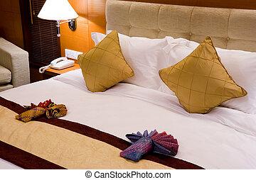 hotel, cama