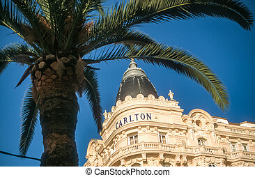 Hotel Carlton in Cannes, Cote Azur, France