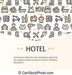 Hotel Concept Infographics Banner. Vector