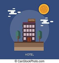 Hotel Conceptual illustration Design