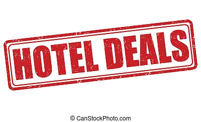 Hotel deals stamp - Hotel deals grunge rubber stamp on...