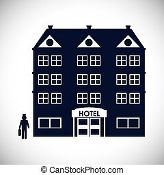 Hotel design - Hotel digital design, vector illustration eps...