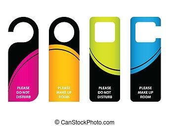 hotel do not disturb door hanger with special design