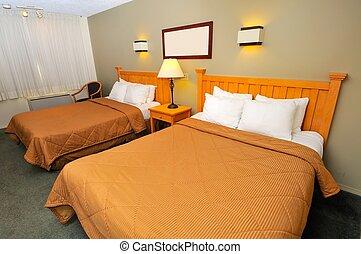 hotel, espaçoso, sala
