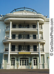 Facade view of apartment hotel